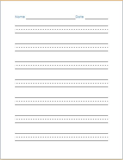 Best Practice Resume Writing by Handwriting Practice Paper Template At Word Documents