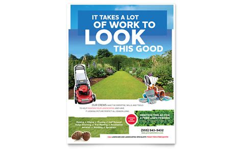 landscaping flyer template word publisher