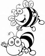 Coloring Bees Insects Pages Easy Sheets Sheet Topcoloringpages Children Printable Flying Smiled Bugs Facts sketch template