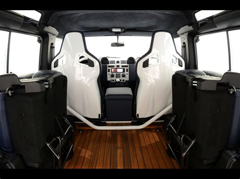 new land rover defender interior 2011 startech land rover defender 90 yachting edition