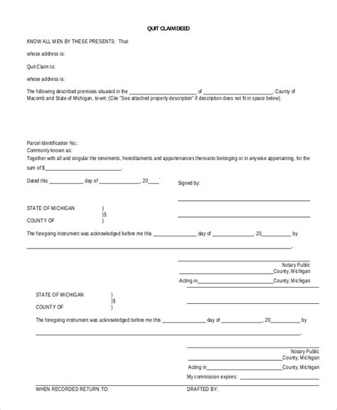 quick deed form free printable free printable quit claim deed form texas archives
