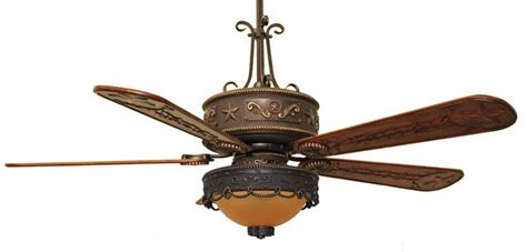 cc kvwst lk510amb western lighted ceiling fan with