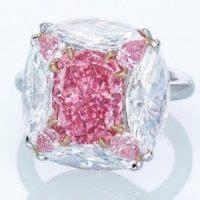 bubble gum pink diamond  lead  christies sale jck