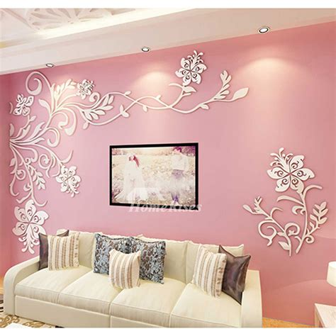 This diy living room wall decor uses an unusual ingredient: Living Room Wall Decor 3D Acrylic Modern Bedroom Large Unique