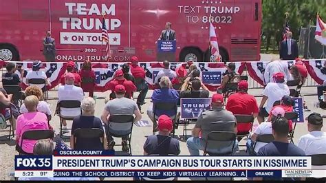 president trumps campaign bus  starts  kissimmee