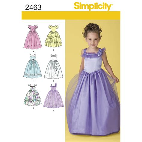 pattern for child 39 s special occasion simplicity