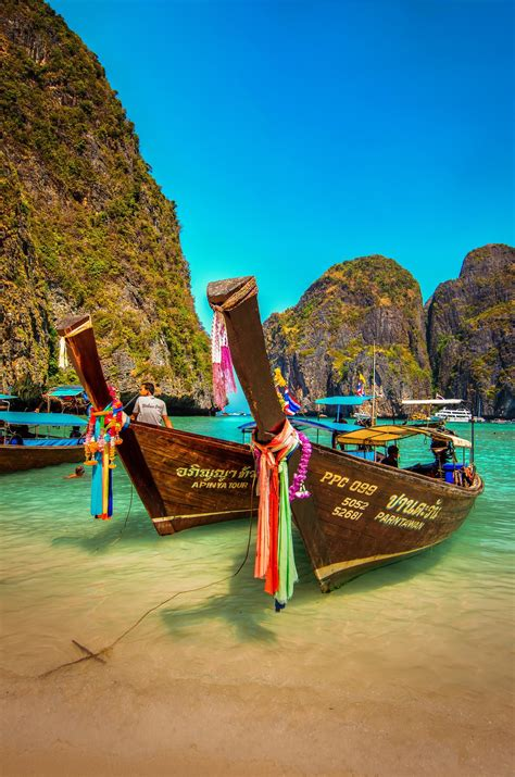 The Boats of Phi-Phi Island   Asia travel, Beautiful ...