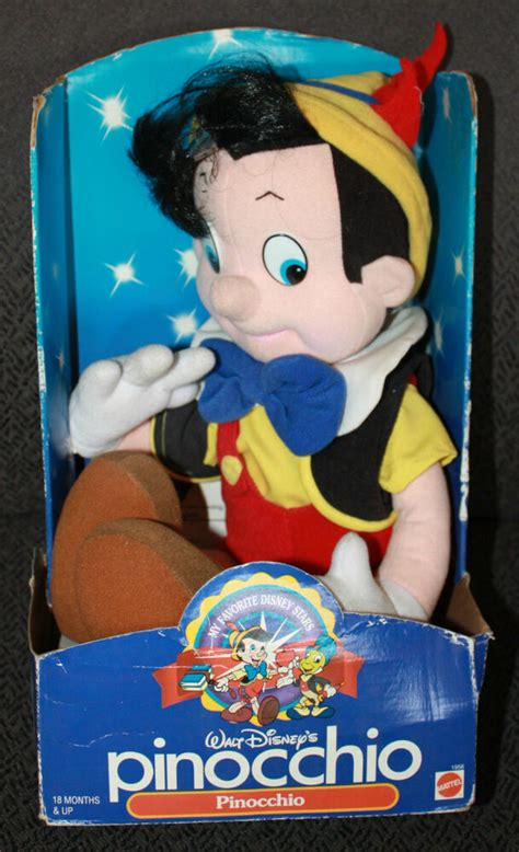 1992 Mattel My Favorite Disney Stars Pinocchio Plush New ...