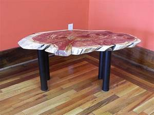 Gorgeous finished live edge red cedar coffee table 53007 for Live edge cedar coffee table