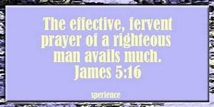 How Is Your Praying? Effective? Fervent? Availing Much ...