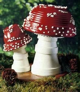 Creation Avec Des Pots De Fleurs : mushrooms clay pot ideas pinterest gardens creative ~ Melissatoandfro.com Idées de Décoration