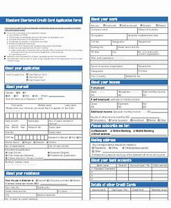 65 application form samples sample templates With standard credit application template