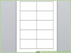 Blank Business Card Template Microsoft Word