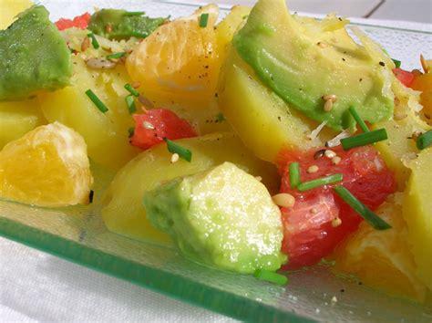 ma ptite cuisine salade de pommes de terre et agrumes cocotte et