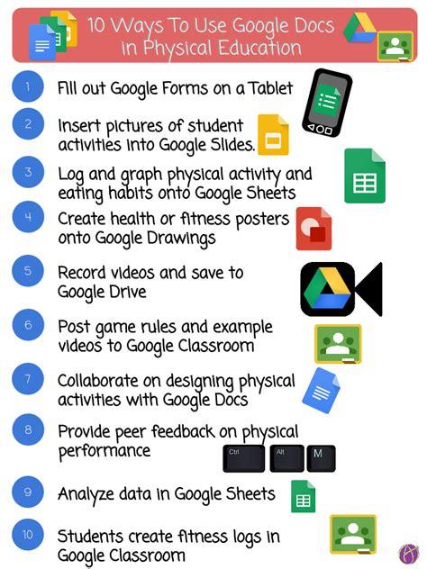 ways   google docs  physical education