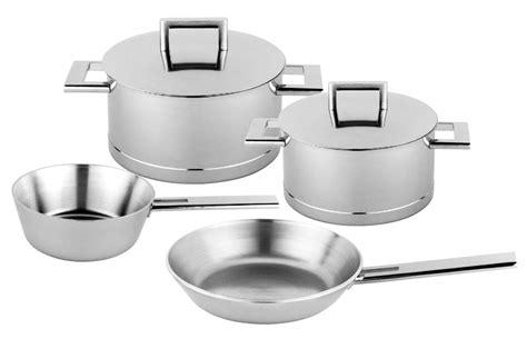 demeyere john pawson stainless steel cookware set  piece cutlery