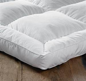 euroquilt goose feather down double bed mattress topper With double matress topper