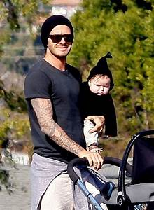 David Beckham sighting with baby Harper at a Soccer Game ...