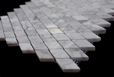italian white carrara marble polished rhomboid