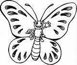 Butterfly Cartoon Coloring Printable Pages Colour Coloringpagebook Butterflies Advertisement Printables sketch template
