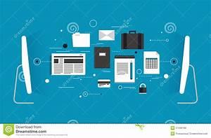 Data Transfer Flat Illustration Stock Vector - Image: 37430189