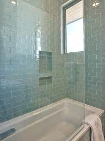 glass subway tile bathroom ideas blue glass subway tiles contemporary bathroom glynis wood interiors