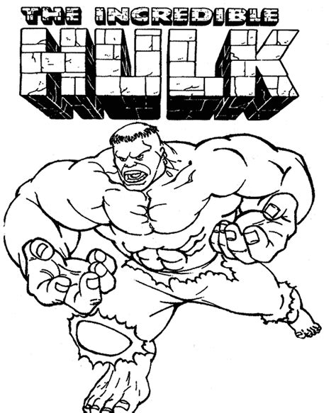 The Incredible Hulk Coloring Pages Super Heroes Coloring