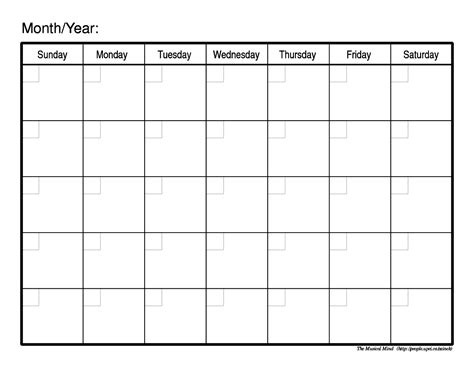 blank monthly calendar template blank printable monthly calendar 2018 calendar template letter format printable holidays usa