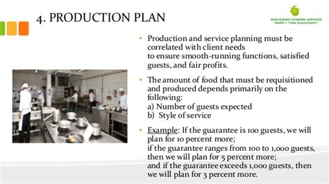 A Business Plan On Catering Services (wholesome Catering