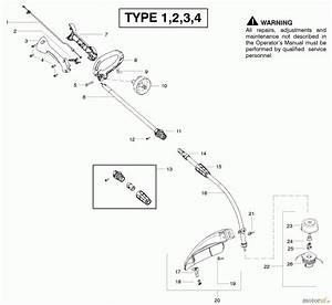 Poulan    Weed Eater Motorsensen  Trimmer Fx26sc  Type 3