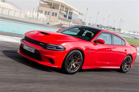 Charger Hellcat Or Challenger Hellcat 2015 dodge challenger charger hellcat driven at yas