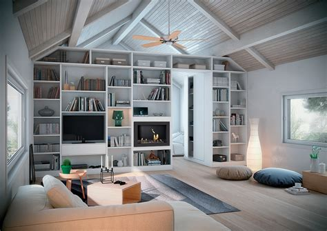 etageres archives bureau installation d 39 une bibliothèque sur mesure avec cheminée à