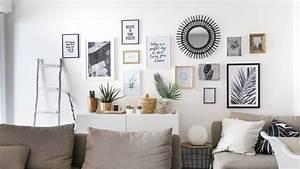 tuto deco realisez un mur de cadres sans percer june With mur de cadres decoration