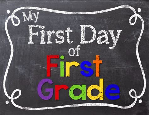 24 Colorful First Day Of School Signs  Kitty Baby Love