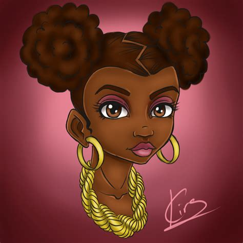 Here's some inspiration for aspiring flash artists: Afro Puffs by KiraTheArtist on DeviantArt