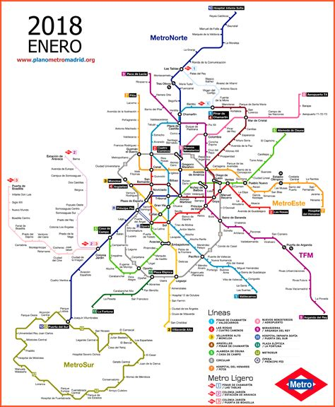 Carte Métro 2018 plano metro madrid 2018 el m 225 s actualizado de todos