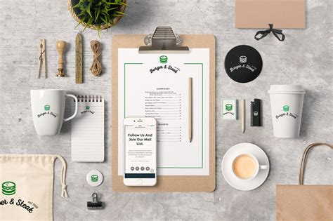 ✓ free for commercial use ✓ high quality images. Download This Stationery Branding Identity PSD Mockup ...