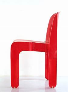 Joe colombo 4867 plastic vintage red chair for kartell for Kartell plastic chair