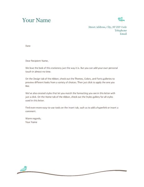 microsoft office letterhead templates  printable