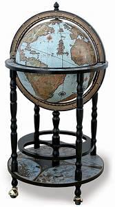 Old World Globe Bar - Blue Oceans