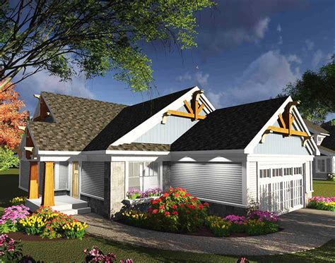 bedroom ranch home  decorative timbers ah architectural designs house plans