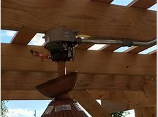 Need help mounting our new outdoor ceiling fan under our