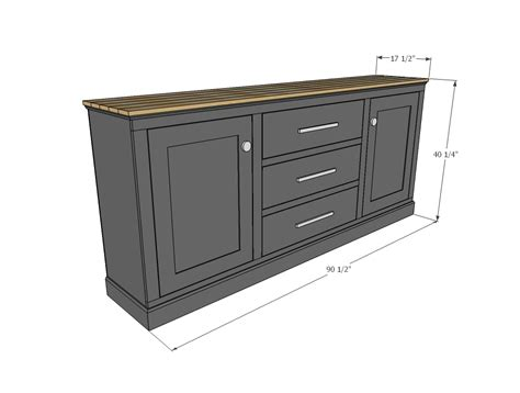 Standard Sideboard Height by White Buffet Cabinet Diy Projects