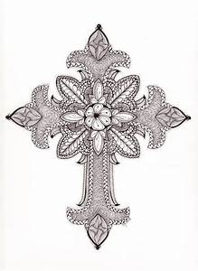 Tangled Ornate Cross My Tangled Adventures