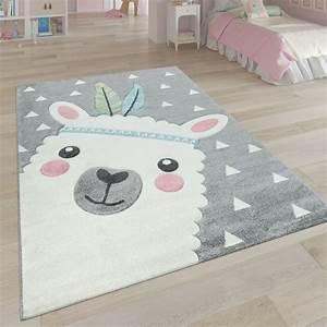 Teppich Für Kinder : spielteppich kinderzimmer 3 d design alpaka ~ A.2002-acura-tl-radio.info Haus und Dekorationen