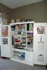 Organized Craft Storage Cabinets