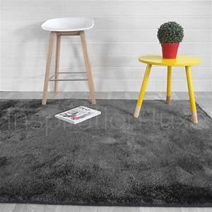 tapis sur mesure gris fonce shaggy fin et doux With tapis d entrée avec fabricant de canapé sur mesure