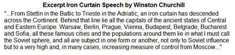 Winston Churchill Iron Curtain Speech Text by Iron Curtain Us History For
