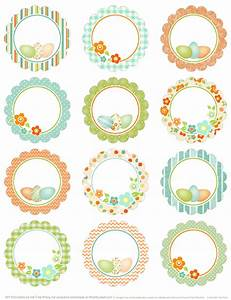 spring has sprung easter printable labels worldlabel blog With circular labels for printing