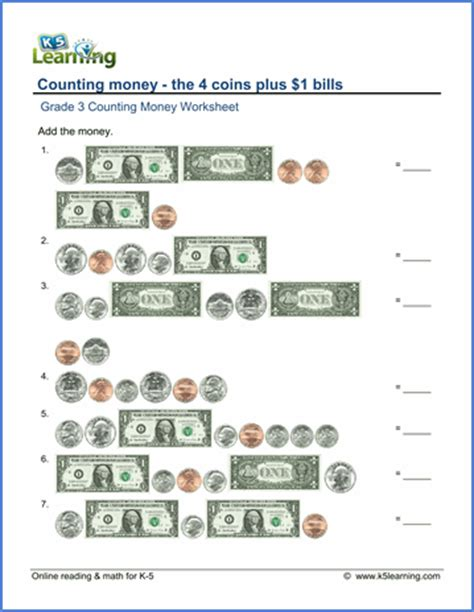 math money worksheets free free money worksheets 2nd